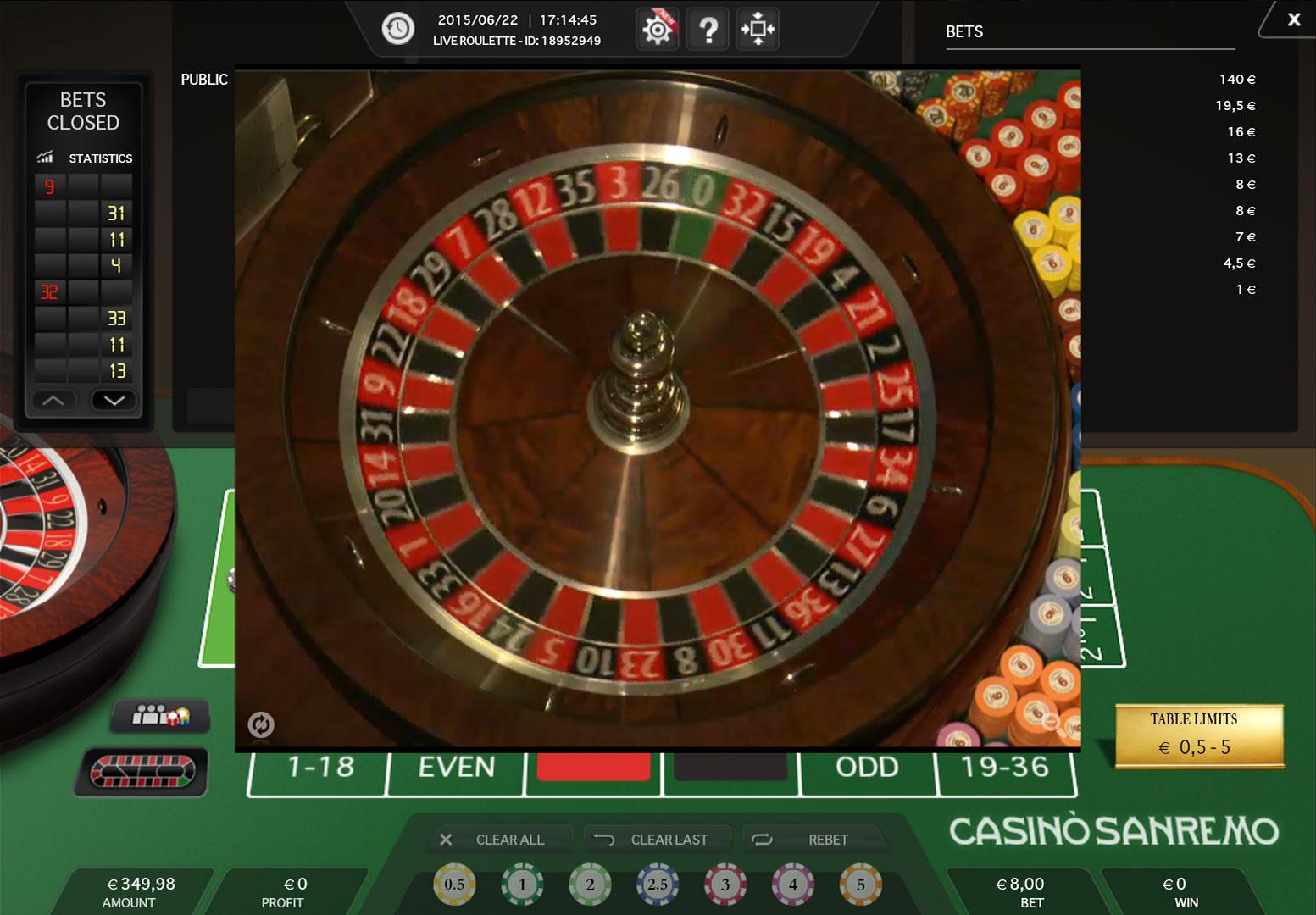 Roulette online 10 cent